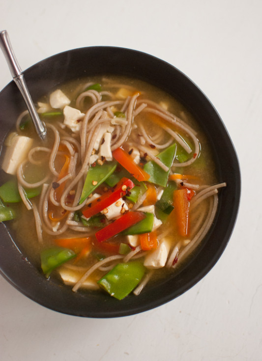 Miso Noodle Soup - Cookie and Kate - avocado recipes vegetarian