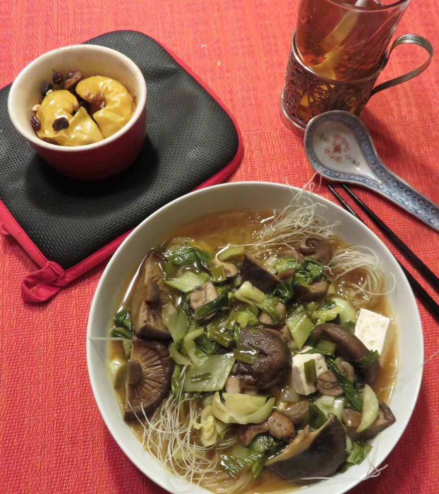 Miso Soup and Baked Apple w/recipe - delicious vegetarian recipes dinner