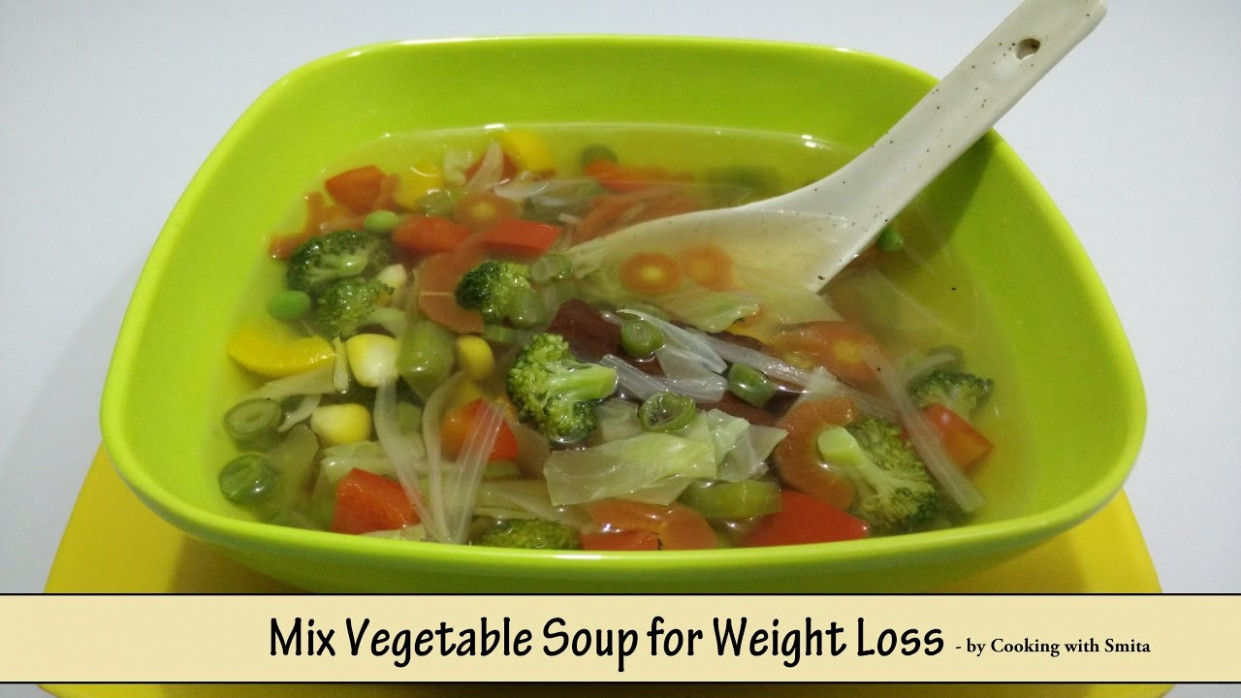 Mix Vegetable Soup For Weight Loss - Recipe In Hindi By Cooking With Smita  | Diet Food - Recipes Of Dinner Veg In Hindi