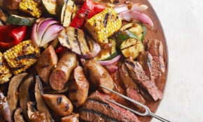 Mixed Grill With Balsamic Mustard Vegetables Recipe ..