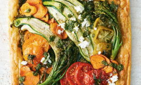Mixed Vegetable Tart With Feta And Pesto – Recipes Vegetarian Tarts
