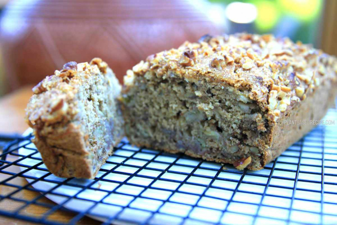 Moist and delicious walnut banana bread (no oil, low fat ..
