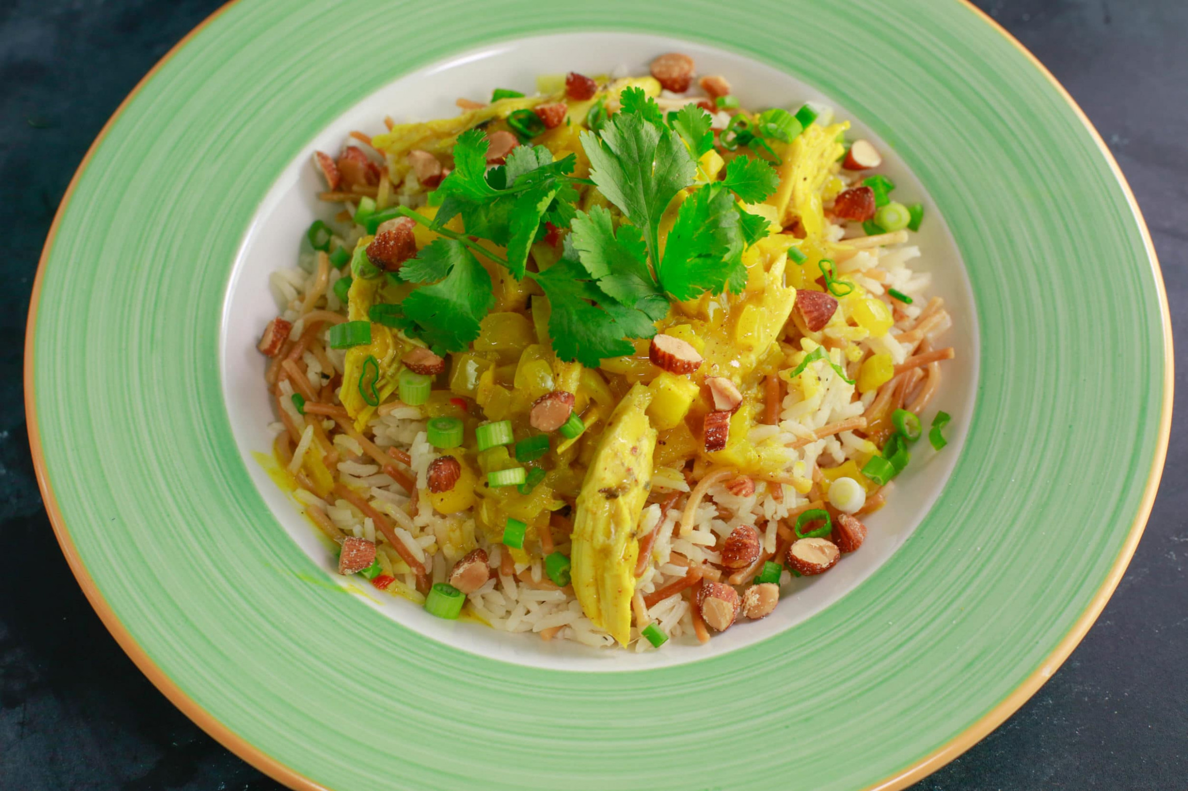 Mom's Chicken Curry and Buttery Rice Pilaf - Rachael Ray - rachael ray recipes chicken
