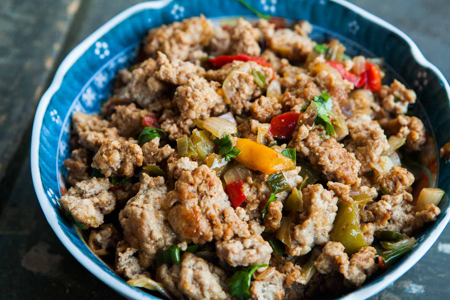 Mom's Ground Turkey And Peppers Recipe | SimplyRecipes