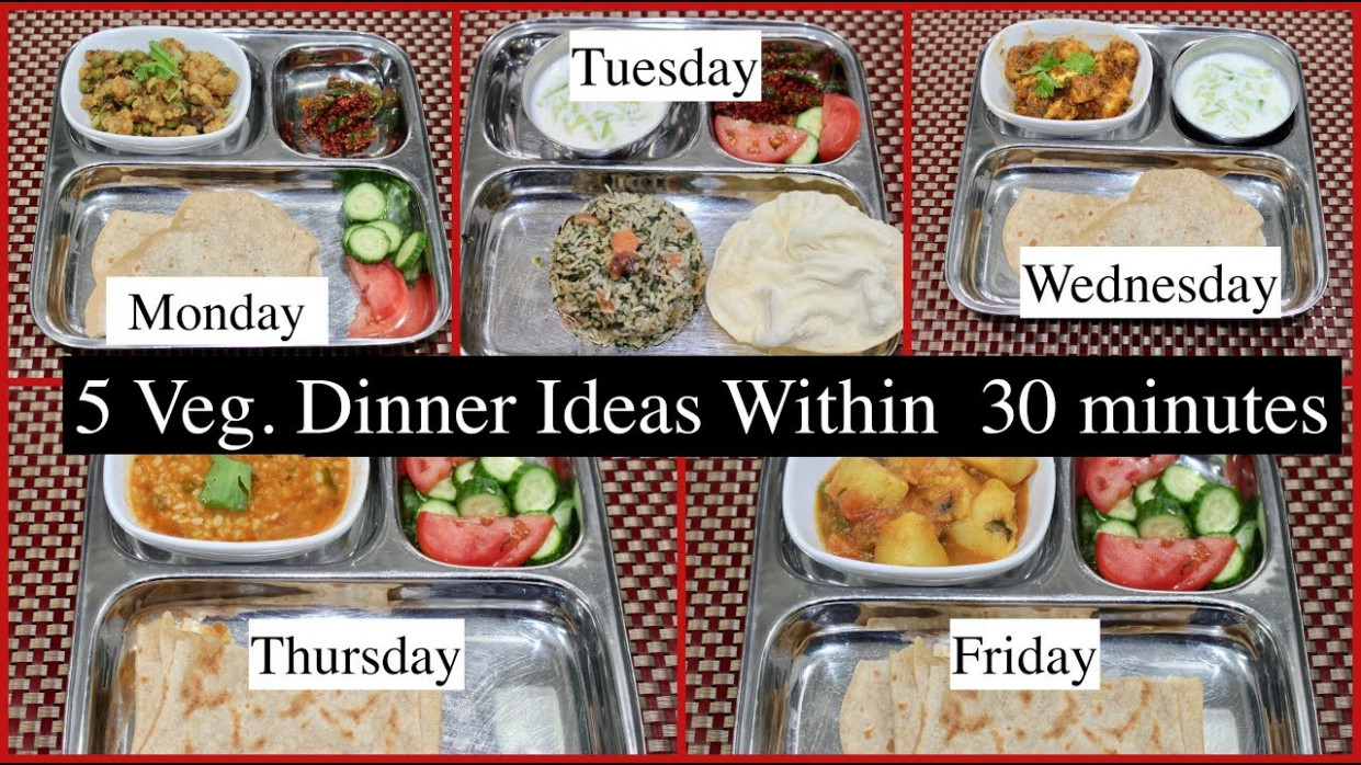 Monday -Friday 14 Minutes Indian Dinner Recipes | Quick Dinner Ideas |  Simple Living Wise Thinking - dinner recipes simple