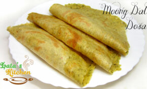 Moong Dal Dosa Recipe — Indian Vegetarian Recipe Video in ...