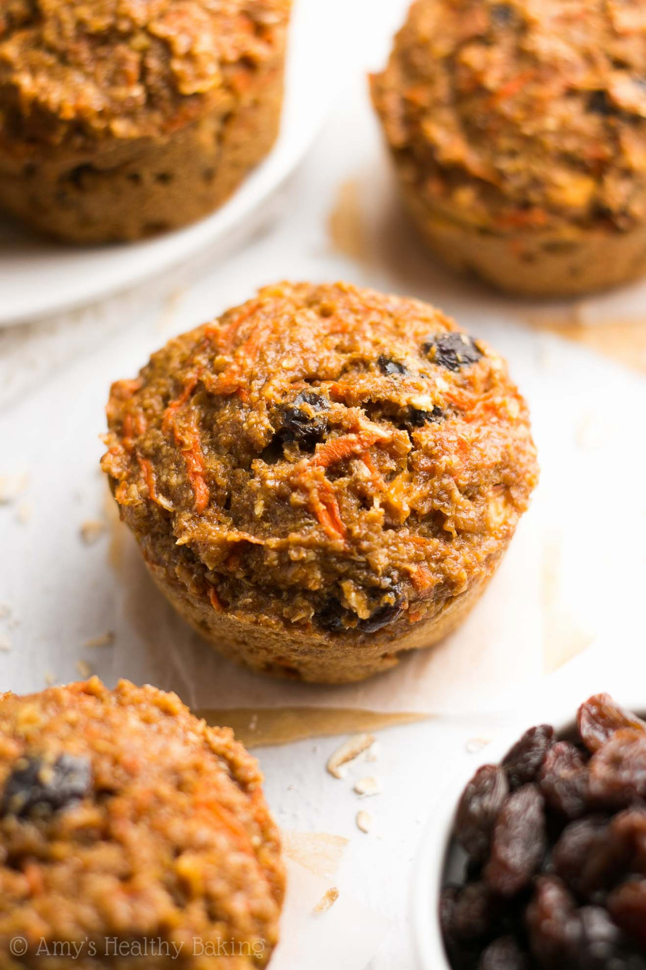 Morning Glory Bran Muffins - healthy recipes muffins