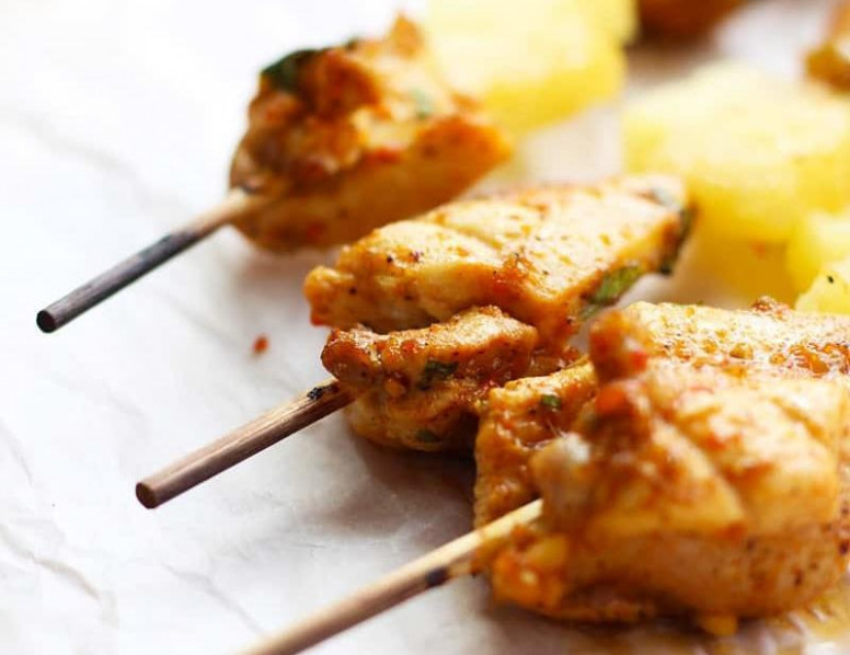 moroccan chicken skewers bon appetit - chicken recipes bon appetit