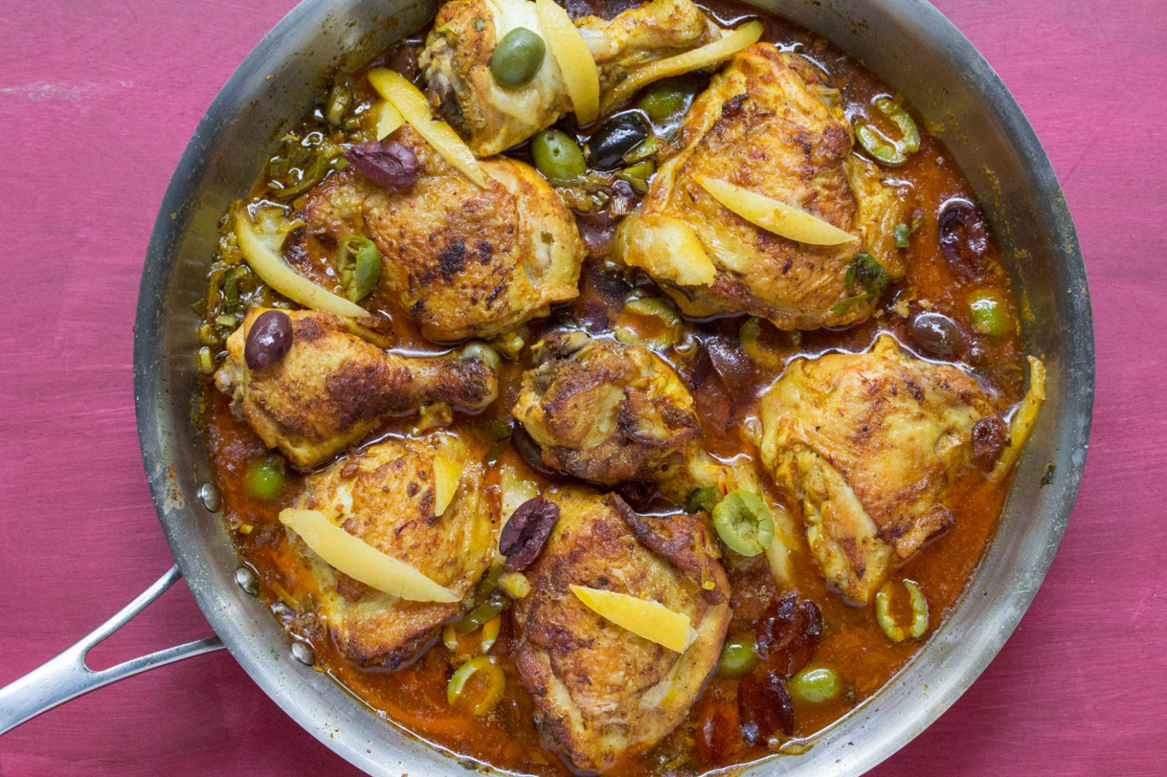 Moroccan Chicken with Preserved Lemons & Olives - moroccan recipes chicken