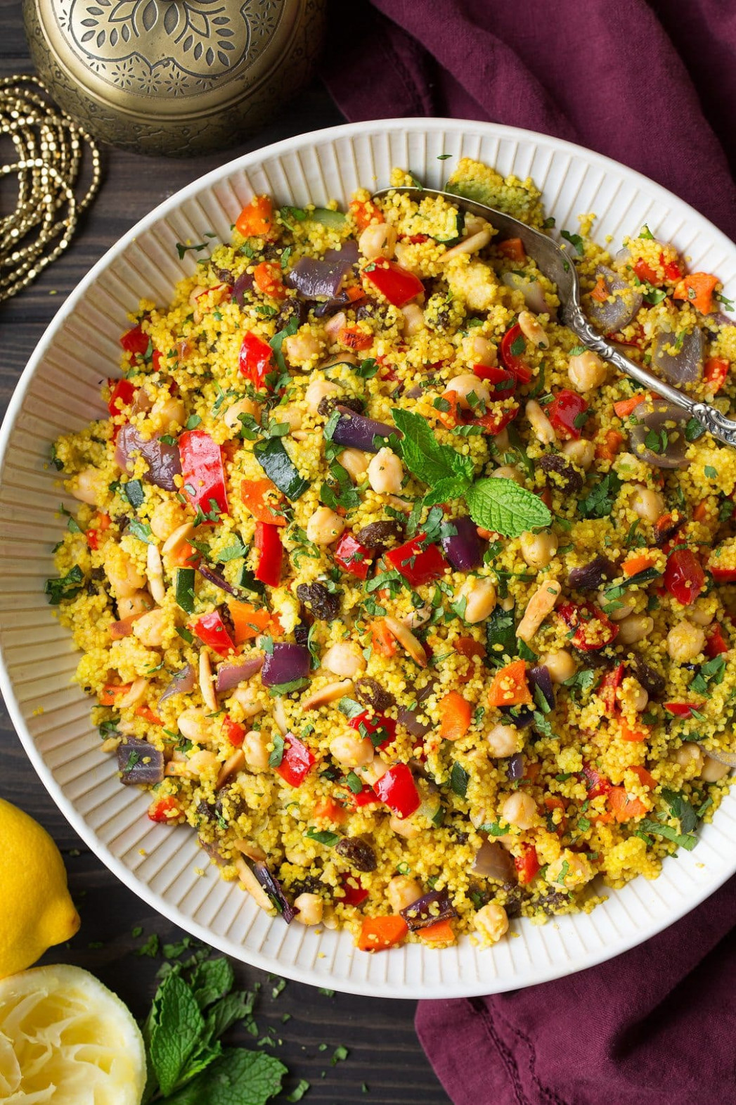 Moroccan Couscous Recipe (with Roasted Veggies) - Cooking Classy - couscous recipes vegetarian