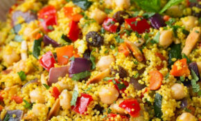 Moroccan Couscous With Roasted Vegetables, Chick Peas And Almonds – Couscous Recipes Vegetarian
