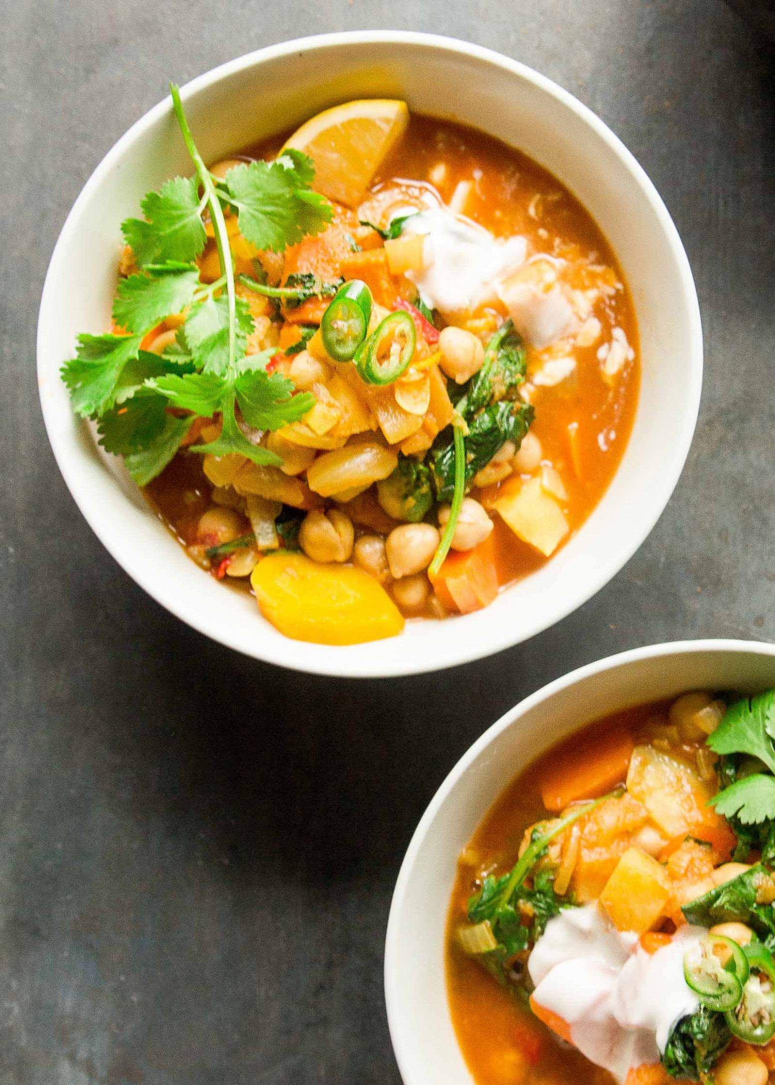 Moroccan-Spiced Sweet Potato and Chickpea Stew - moroccan recipes vegetarian
