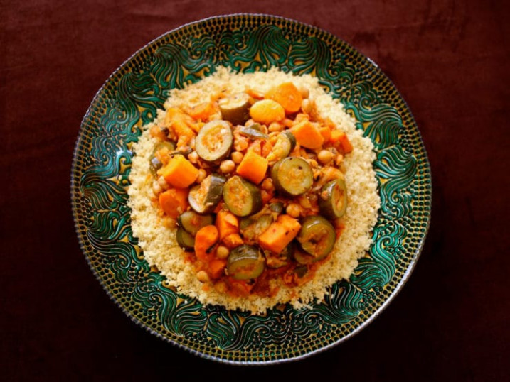 Moroccan-Style Vegetable Couscous - Vegetarian Recipe - recipes moroccan food