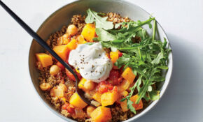 moroccan vegetable stew with butternut squash