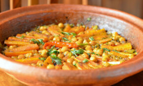 Moroccan Vegetarian Carrot And Chickpea Tagine – Tagine Recipes Vegetarian