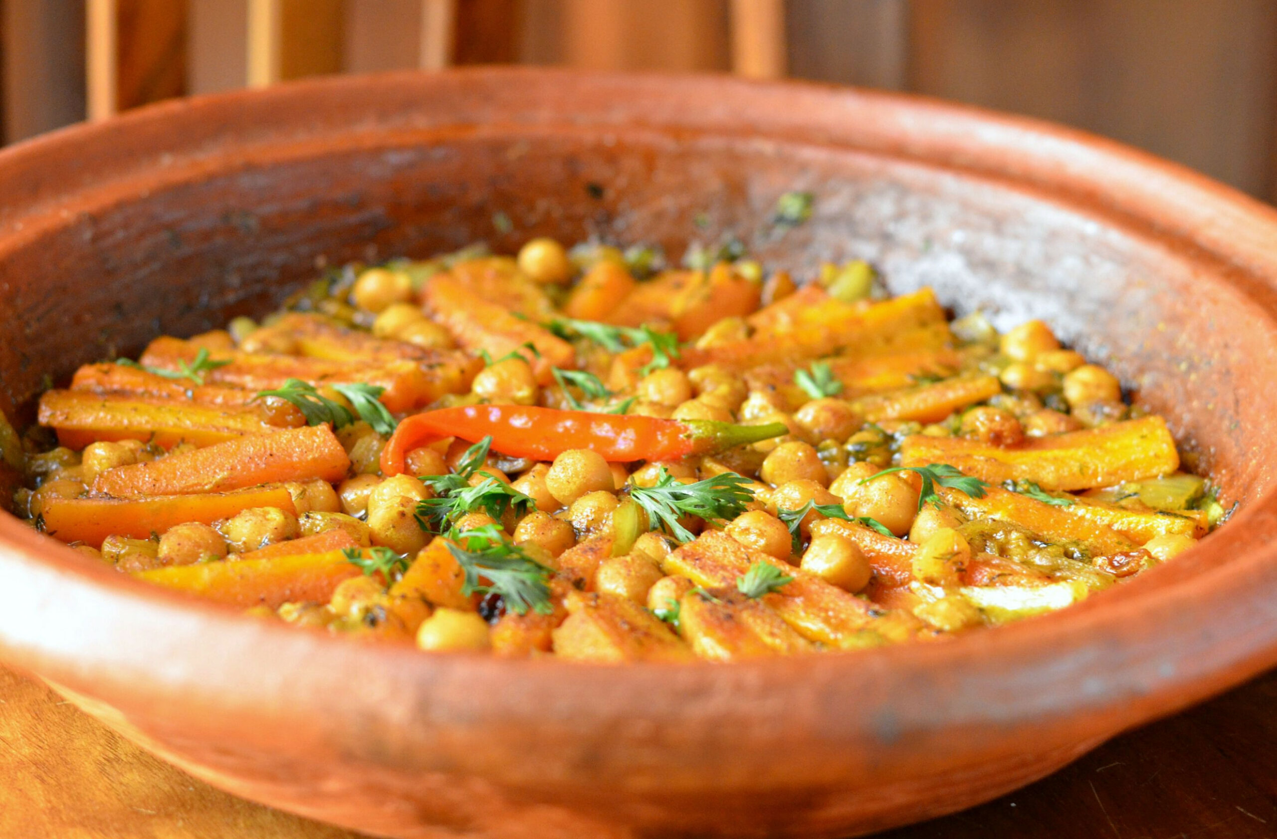Moroccan Vegetarian Carrot and Chickpea Tagine - tagine recipes vegetarian
