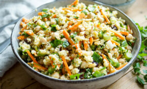 Morroccan Style Millet Salad With Chickpeas And Carrots – Millet Recipes Vegetarian