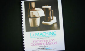 Moulinex La Machine Model 390 & 354 Food Processor ...