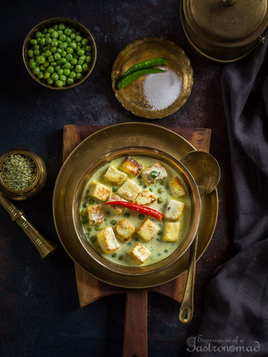 Mouri Paneer (Paneer Cooked With Fennel And Milk) - Dinner Recipes With Milk