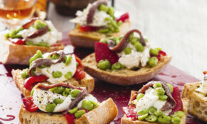 Mozzarella And Anchovy Bruschetta – Recipes Dinner Party Starters
