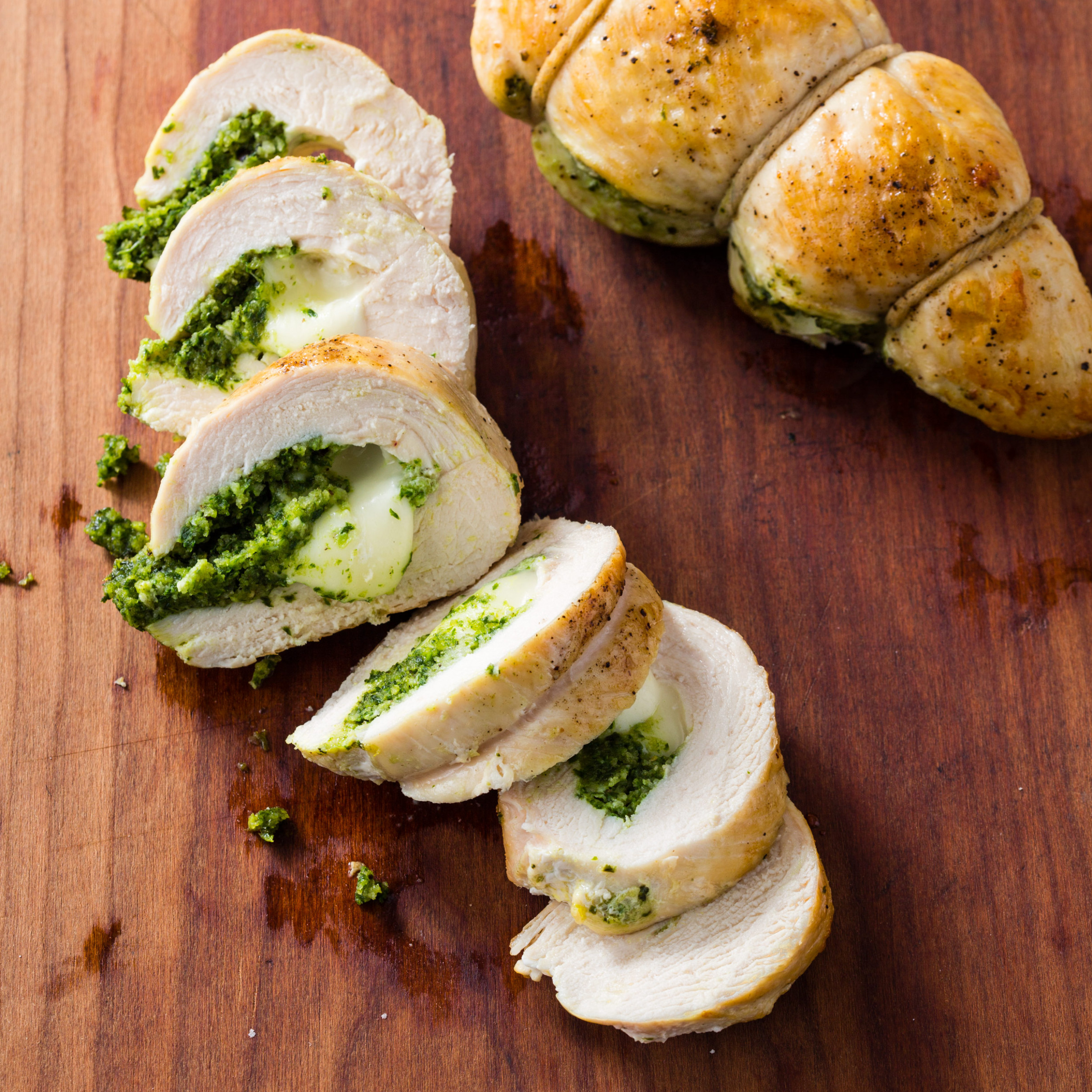 Mozzarella-and-Pesto-Stuffed Chicken Breasts for Two - recipes pesto chicken
