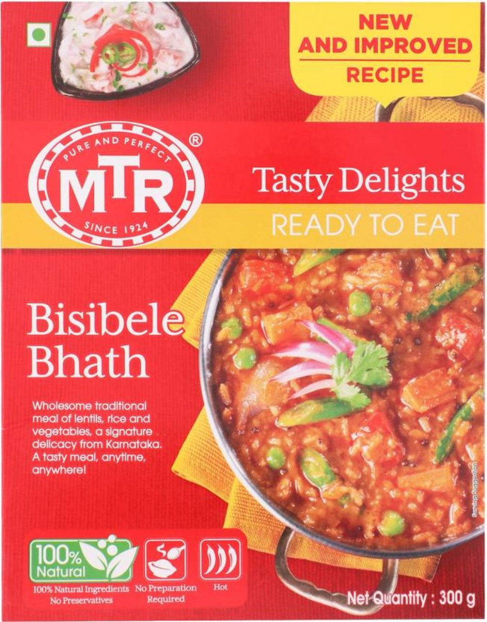 MTR Bisibele Bhath (RTE) - rte food recipes