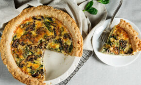Mushroom And Spinach Quiche – Recipe Vegetarian Quiche Spinach