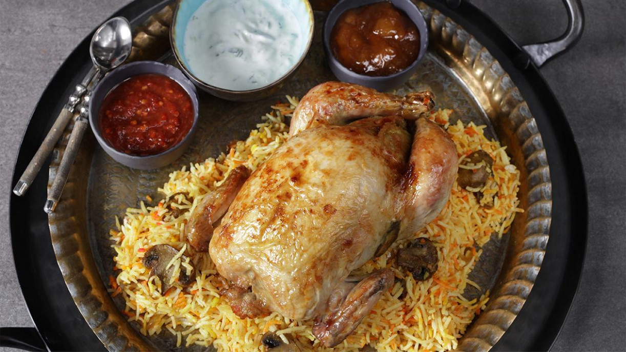 Mushroom Biryani Stuffed Chicken Recipe - Chicken Recipes Knorr