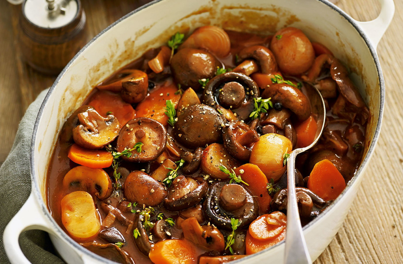 Mushroom bourguignon - tesco recipes vegetarian