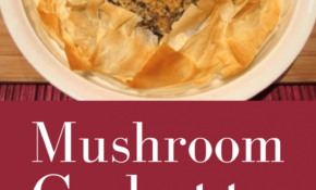 Mushroom Filo Pastry Galette – Recipes Using Filo Pastry Vegetarian