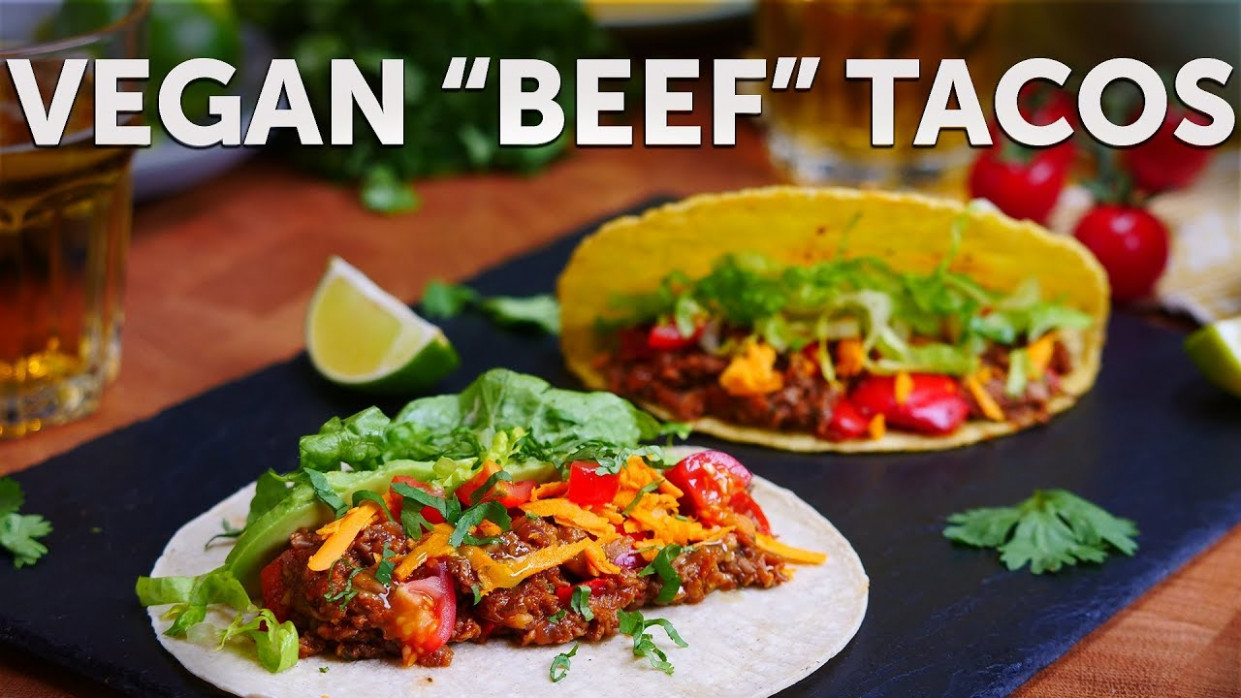 MUSHROOM MINCE TACOS | BOSH! | VEGAN - recipes with vegetarian mince