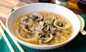 Mushroom Onion Miso Soup – Recipe Vegetarian Noodle Soup