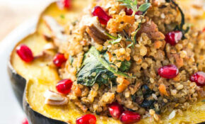 Mushroom & Quinoa Stuffed Acorn Squash – Recipe Vegetarian Quinoa Stuffing