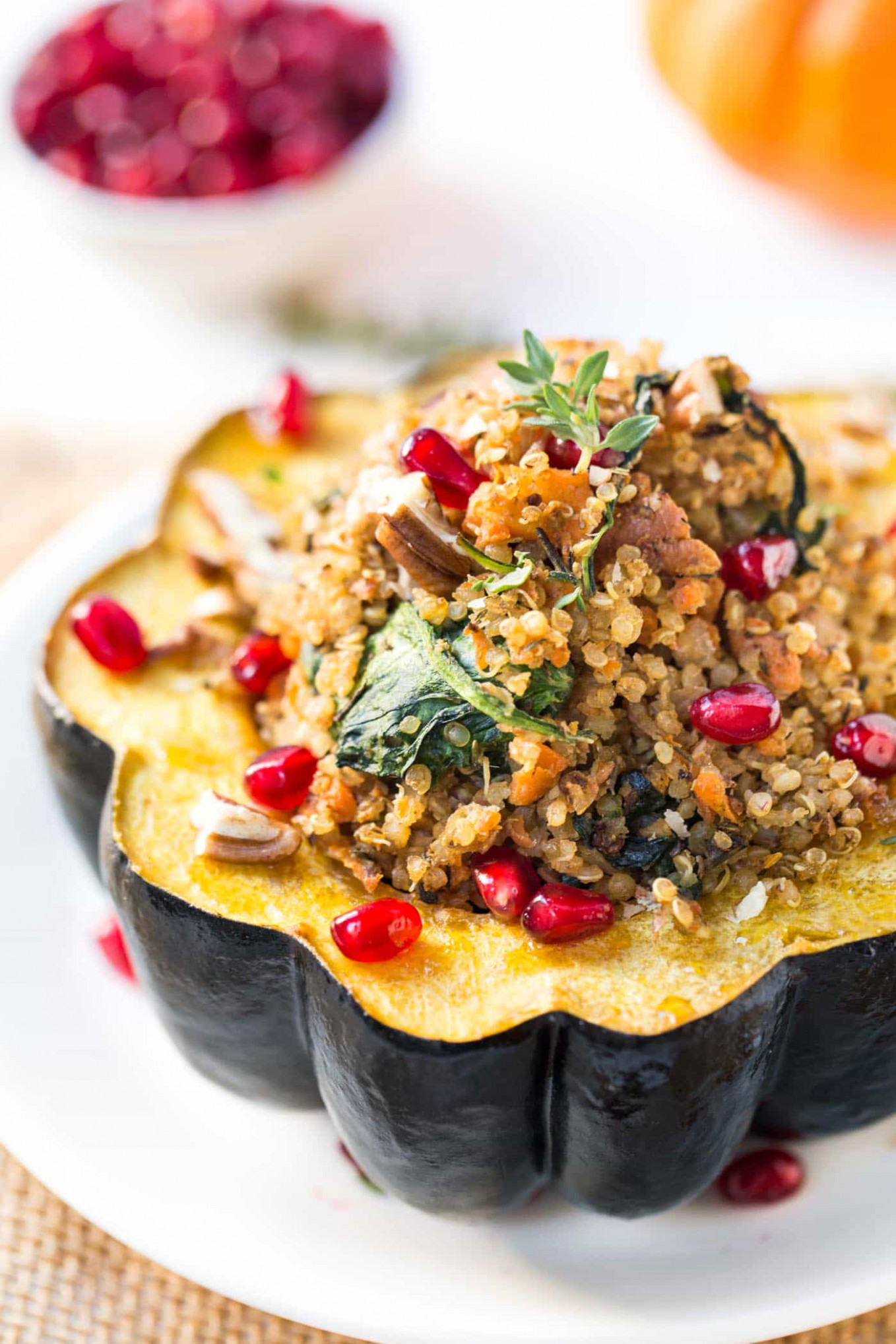 Mushroom & Quinoa Stuffed Acorn Squash - Recipe Vegetarian Quinoa Stuffing