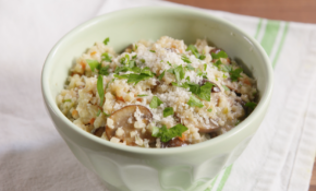 Mushroom Risotto With Riced Cauliflower Medley – Recipe Vegetarian Risotto