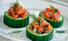 My Carolina Kitchen: Smoked Salmon on Cucumbers ...