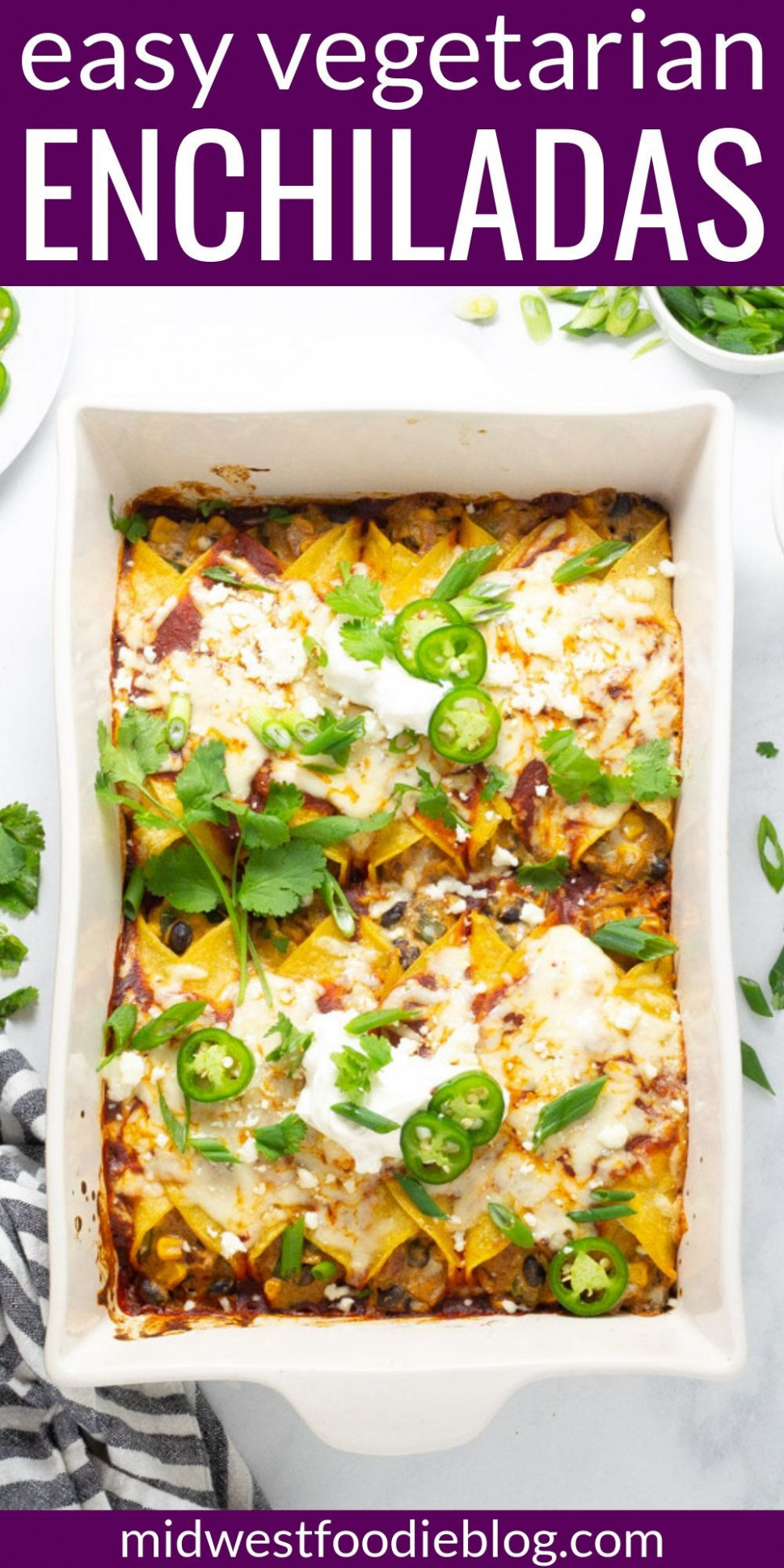 My Favorite Veggie Enchiladas - recipes vegetarian enchiladas