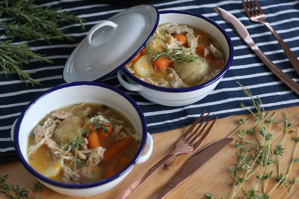 My Homely Gluten Free Chicken Stew and Dumplings Recipe (dairy free and low FODMAP) - low fodmap recipes dinner