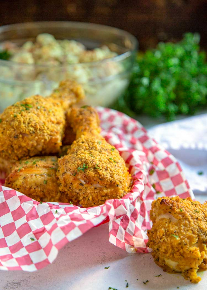 My Oven Fried Chicken (KFC Copycat) - Kevin Is Cooking - chicken recipes no oven