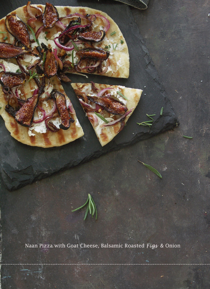 Naan Pizza with Figs 4 - dinner recipes easy indian