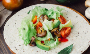 Natural Vegetarian Mexican Food Fresh Salad Tortilla Bread ..