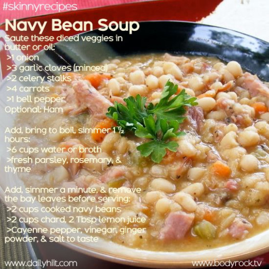 Navy Bean Soup (Vegetarian) | soup | Pinterest - recipe vegetarian navy bean soup