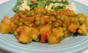 Nepalese Potato, Tomato And Pea Curry – Nepalese Recipes Vegetarian