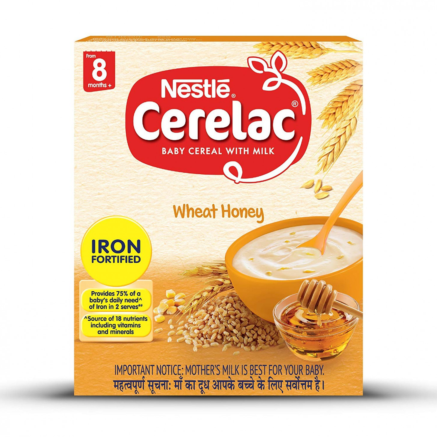 Nestle CERELAC Fortified Baby Cereal with Milk, Wheat Honey – From 15  Months, 15g BIB Pack - baby food recipes 6-8 months