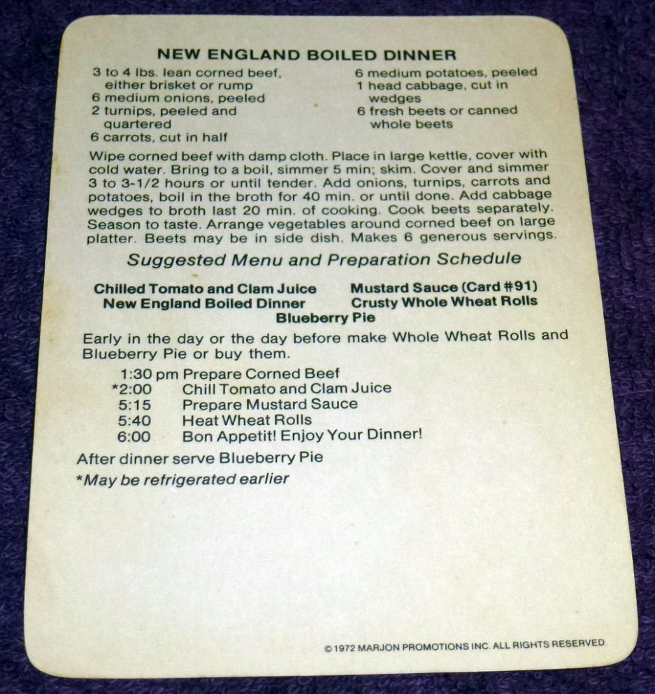 New England Boiled Dinner Recipe (2) - recipes new england boiled dinner