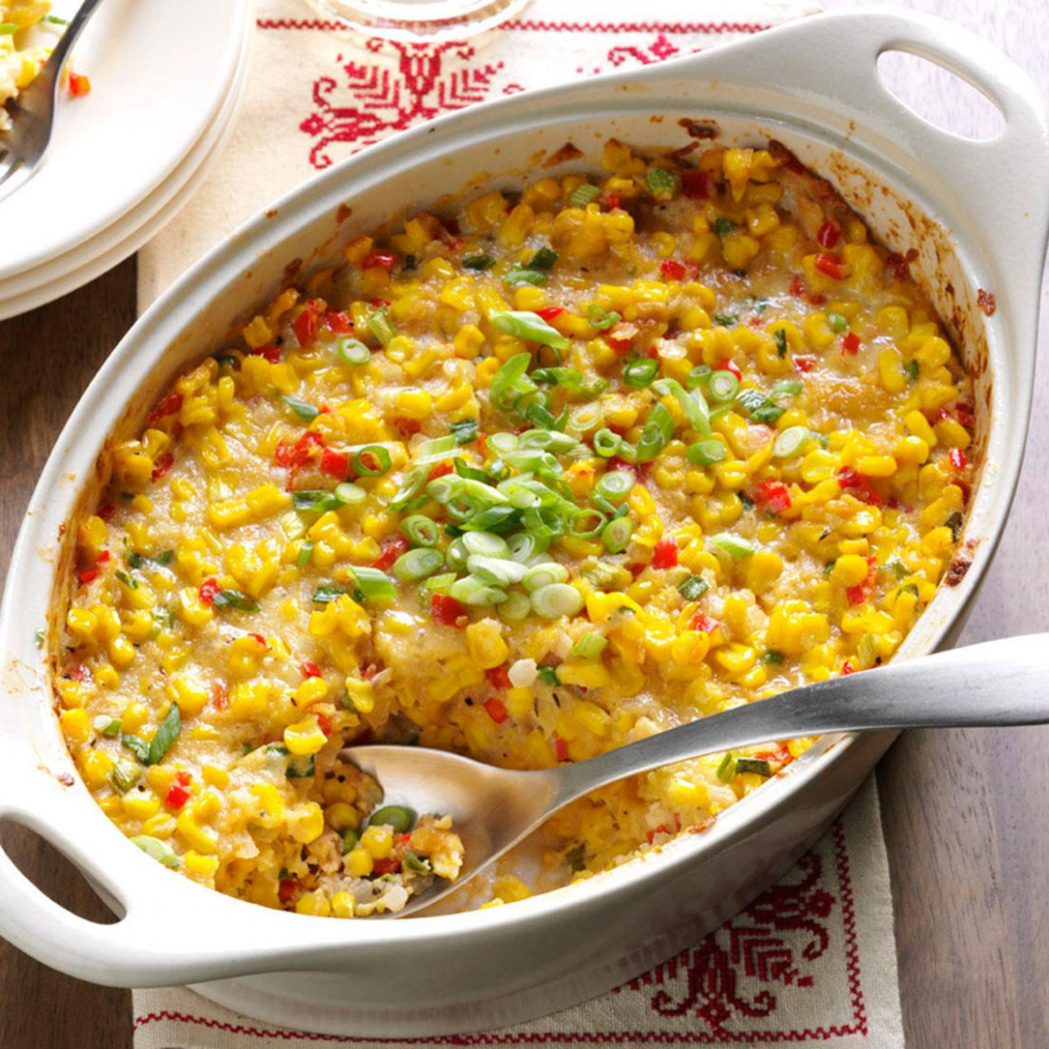 New Orleans-Style Scalloped Corn Recipe | Taste of Home - new food recipes