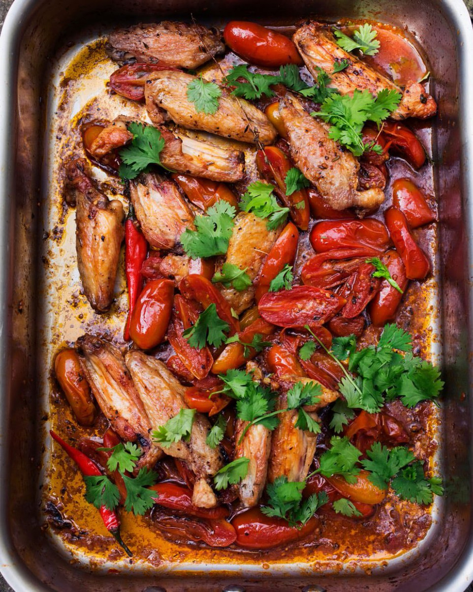 """nigel slater on Twitter: """"Tomatoes, roasted with chicken .."""