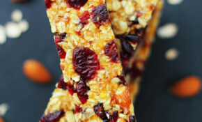 No Bake Fruit & Nut Granola Bar Recipe | Healthy Low ..