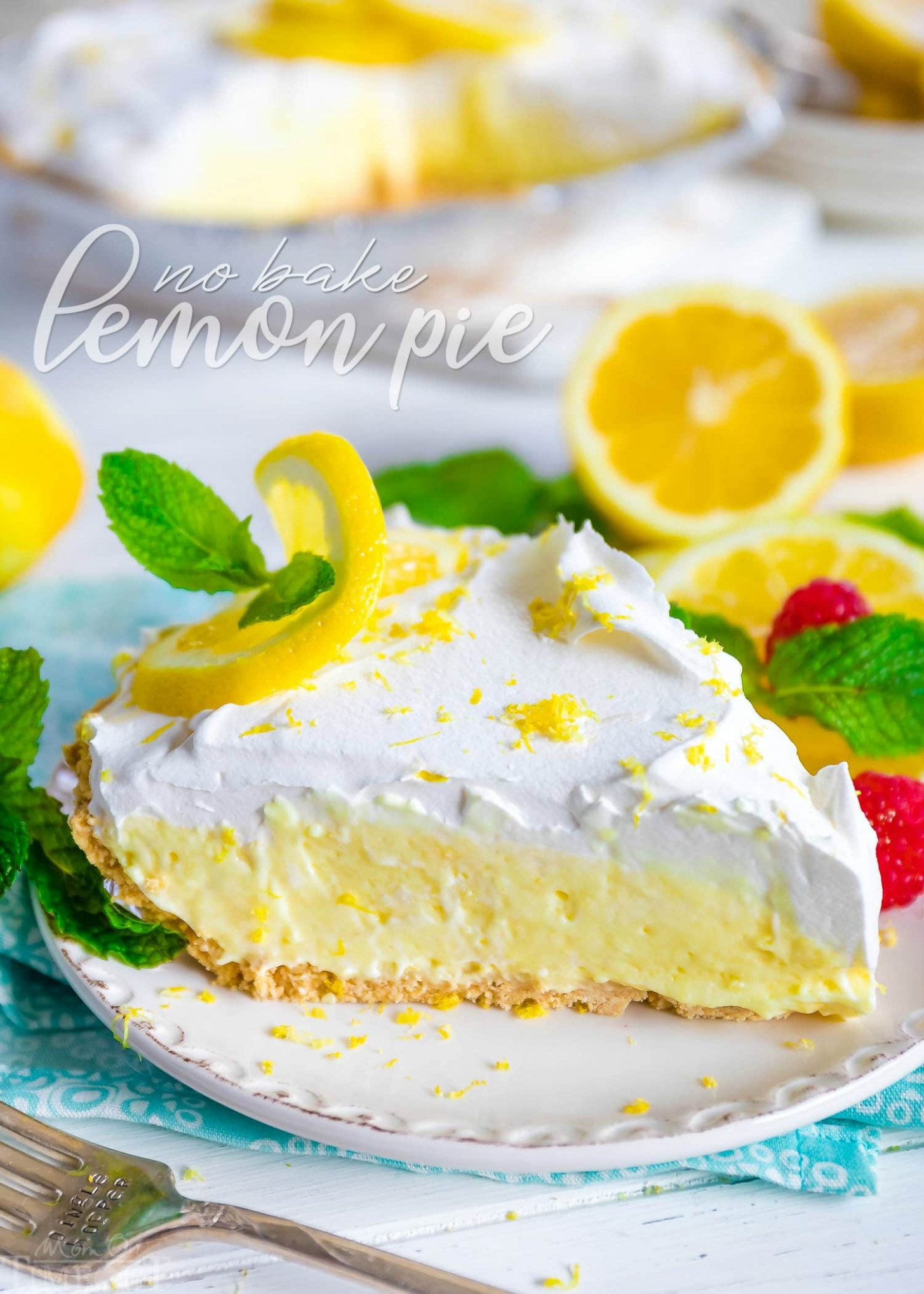 No Bake Lemon Pie - dinner recipes no oven