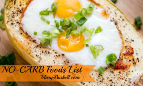 NO CARB Foods List – SKINNY On LOW CARB – Food Recipes No Carbs